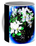 Apple Blossoms In Blue White Mist Coffee Mug