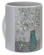 Apple Blossoms In Turquoise Vase Coffee Mug