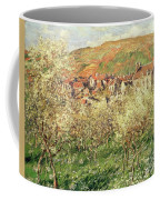 Apple Trees In Blossom Coffee Mug by Claude Monet