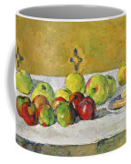Apples And Biscuits Coffee Mug by Paul Cezanne
