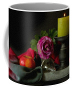 Apples Rose And Candlestick On Tray Stl712923 Coffee Mug