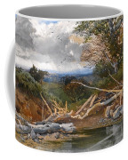 Approaching Storm In A Wooded Landscape Coffee Mug