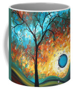 Aqua Burn By Madart Coffee Mug by Megan Duncanson