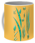 Aqua Design On Gold Coffee Mug