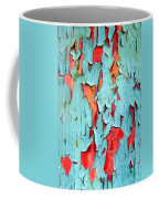 Aqua Over Orange Coffee Mug