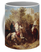 Arab Horsemen Coffee Mug by Eugene Fromentin