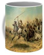 Arab Horsemen On The Attack Coffee Mug by Adolf Schreyer