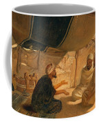 Arabs In The Desert Coffee Mug by Frederick Goodall