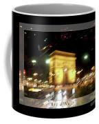 Arc De Triomphe By Bus Tour Greeting Card Poster V1 Coffee Mug