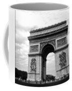 Arc De Triomphe In Black And White Coffee Mug