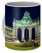 Arcade Du Cinquantenaire At Night - Brussels Coffee Mug