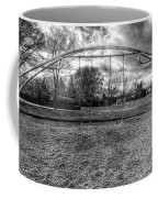 Arch Swing Set In The Park 76 In Black And White Coffee Mug
