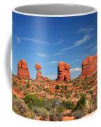 Arches National Park - Hoodoos Carved In Entrada Sandstone Coffee Mug