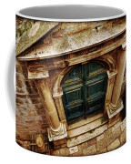 Architectural Green Door Dibrovnik Coffee Mug