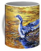 Arctic Loon On Golden Pond Coffee Mug