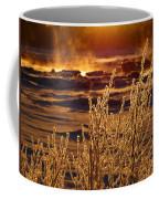 Arctic Sea Smoke Sunrise Coffee Mug
