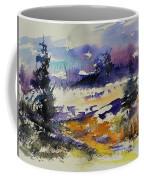 Ardennes Landscape Watercolor Coffee Mug