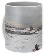 Ardvreck Castle In Winter - Panorama Coffee Mug by Maria Gaellman