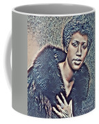Aretha Franklin Abstract Art Coffee Mug