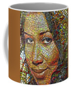 Aretha Franklin Tribute Mosaic Portrait 2 Coffee Mug