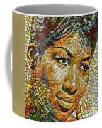 Aretha Franklin Tribute Mosaic Portrait 3 Coffee Mug