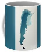 Argentina Simple Intrusion Map 3d Render Coffee Mug