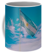 Argentinian Flag In Central Park In Bariloche-argentina  Coffee Mug