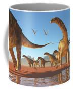 Argentinosaurus Herd Coffee Mug