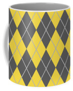 Argyle Diamond With Crisscross Lines In Pewter Gray N05-p0126 Coffee Mug