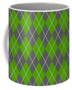 Argyle Diamond With Crisscross Lines In Pewter Gray N09-p0126 Coffee Mug