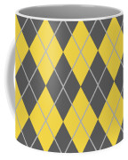 Argyle Diamond With Crisscross Lines In Pewter Gray T05-p0126 Coffee Mug
