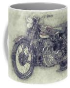Ariel Square Four 1 - 1931 - Vintage Motorcycle Poster - Automotive Art Coffee Mug