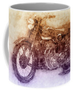 Ariel Square Four 2 - 1931 - Vintage Motorcycle Poster - Automotive Art Coffee Mug