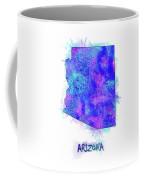Arizona Map Watercolor 2 Coffee Mug