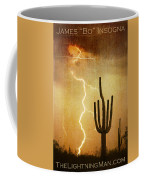 Arizona Saguaro Lightning Strike Poster Print Coffee Mug