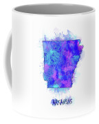 Arkansas Map Watercolor 2 Coffee Mug