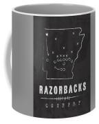 Arkansas Razorbacks / Ncaa College Football Art / Fayetteville Coffee Mug by Damon Gray