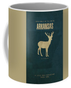 Arkansas State Facts Minimalist Movie Poster Art Coffee Mug
