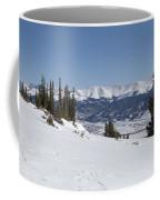 Arkansas Valley From Mount Elbert Colorado In Winter Coffee Mug