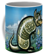 Armadillo N Bluebonnets Coffee Mug