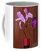 Arrangement In Purple Coffee Mug