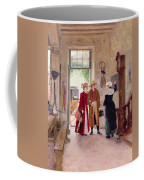 Arrival At The Inn Coffee Mug by Charles Edouard Delort