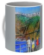 Arriving  At Thira Santorini Greece Coffee Mug