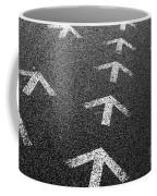 Arrows On Asphalt Coffee Mug