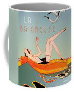 Art Deco Beach Bather Coffee Mug