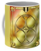 Art Deco Brass 3 Coffee Mug