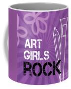 Art Girls Rock Coffee Mug by Linda Woods