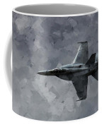Art In Flight F-18 Fighter Coffee Mug by Aaron Lee Berg