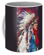 Art Indian Chief Pearlesques In Fragments  Coffee Mug