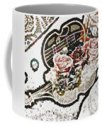 Art Violin And Roses Pearlesqued In Fragments  Coffee Mug
